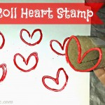 DIY Heart Stamp Using Toilet Paper Rolls (Kids Valentines Craft)