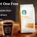Starbucks – Buy One Get One FREE (Bag of Whole Bean Coffee!) Online Deal