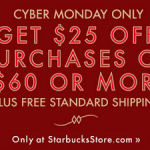 Starbucks Store: Get $25 off $60 Online Orders + Free Shipping {Cyber Monday Deal!}