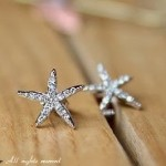 Faux Diamond Embellished Starfish Earrings ONLY $3.37 Shipped Free!