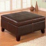 Dark Brown Storage Coffee Ottoman Just $99 + Free Shipping!