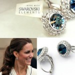 Kate Middleton 18K Swarovski Elements Crystal Silver Stud Earrings ONLY $19.99 + Free Shipping!