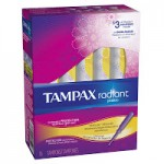 16-count Tampax Radiant Plastic Unscented Tampons ONLY $1.98 (Reg $4.18) + Free Shipping!