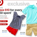 Target Save $10 off a $50 Apparel Purchase Promo Code