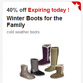 Target Cartwheel: Get 40% Off Winter Boots For The Family (Valid Today ONLY! 11/20)