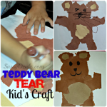 Teddy Bear Tear Kid's Craft (Cheap & Easy – No Scissors Required!)