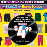 The Children's Place – Get Free Shipping on ALL Orders + 20% Off Promo Code (Today Only, 8/12)