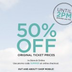 The Limited – 50% Off Original Ticket Prices In-Store and Online with Promo Code (ONLY UNTIL 2PM TODAY!)