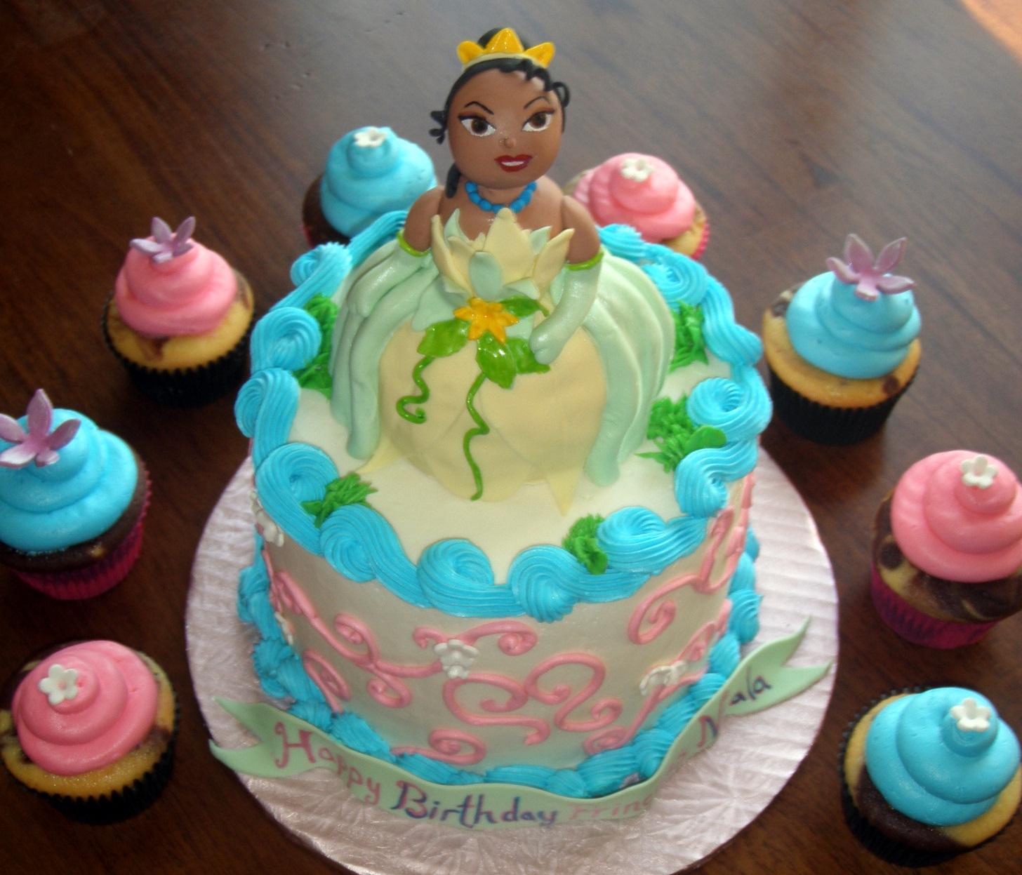 Groovy Princess And The Frog Birthday Cake And Cupcake Ideas Funny Birthday Cards Online Elaedamsfinfo