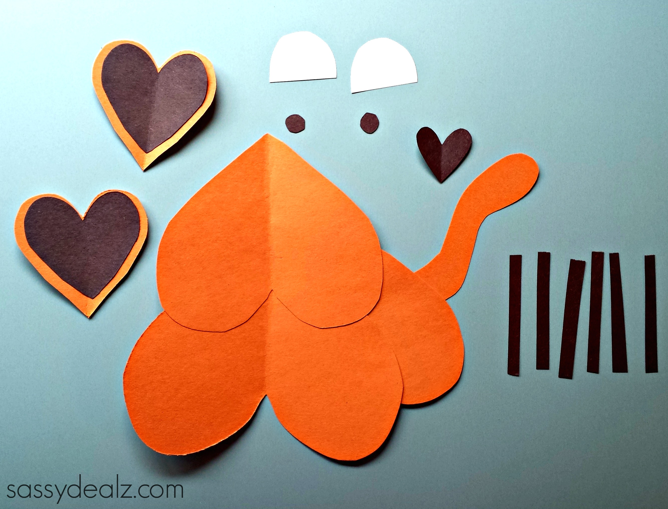 Heart Tiger Craft For Kids