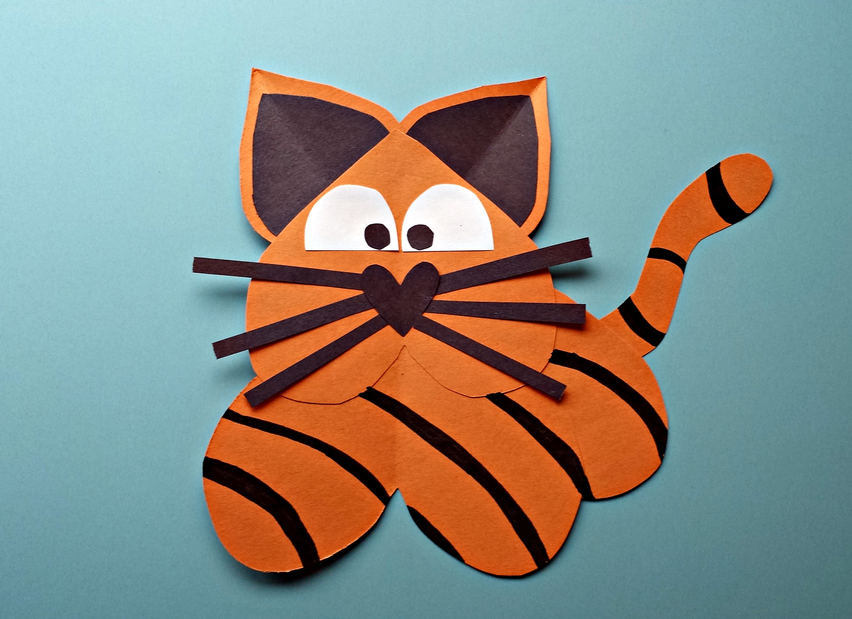 Heart Tiger Craft For Kids - Crafty Morning