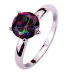 Rainbow Topaz Gemstone Ring ONLY $3 + Free Shipping (Limited Sizes Left!)