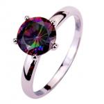 Rainbow Topaz Gemstone Ring ONLY $3 + Free Shipping (Limited Sizes Left!)