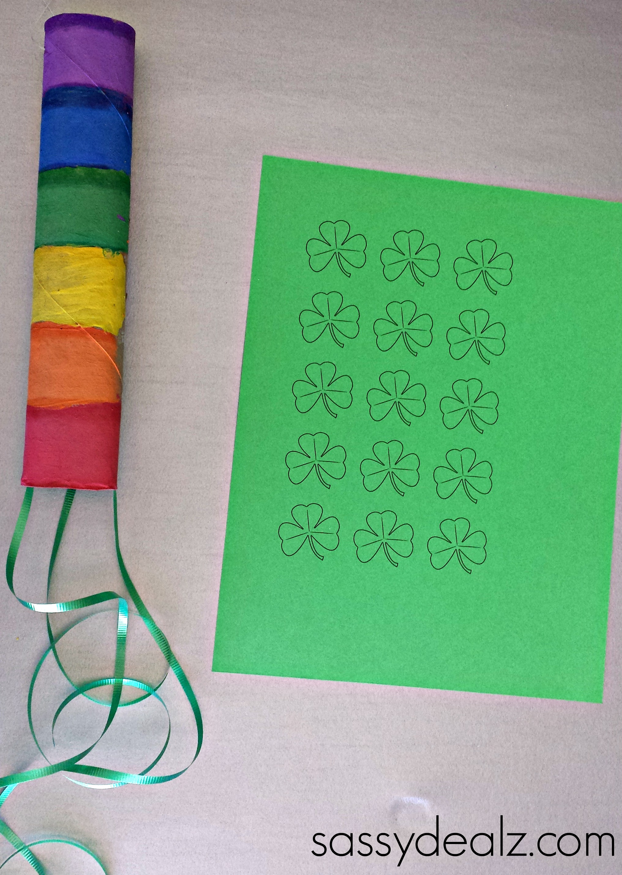 Rainbow Paper Towel Wind Catcher Craft For Kids - Crafty ...