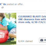 "Toys ""R"" Us 20% Off One Clearance Item Printable Coupon"