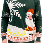 Funny Ugly Christmas Sweaters w/ Santa and Dogs Peeing