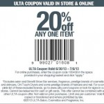 Ulta 20% Off Any One Item Online Promo Code & Printable Coupon
