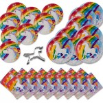 33 Piece Unicorn Rainbow Party Tableware (Plates & Napkins) Just $12.95 Shipped (Reg $29.95!)