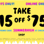 Urban Outfitters – Get $15 off a $75 Purchase Online Promo Code (Thru 7/23)