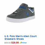 U.S. Polo Men's Fashion Sneakers Shoes Only $29.99 (Reg $60)