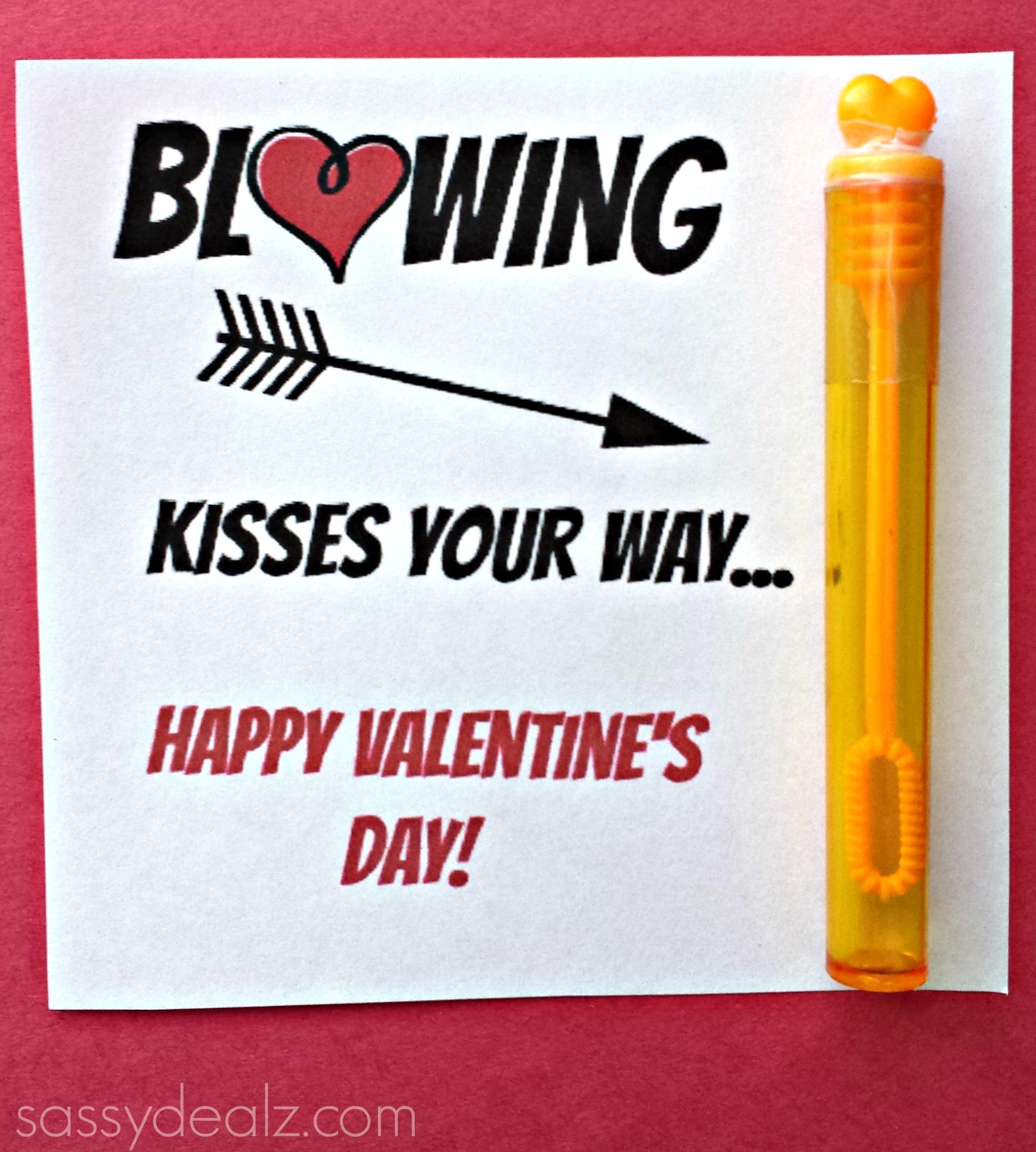blowing bubble valentine