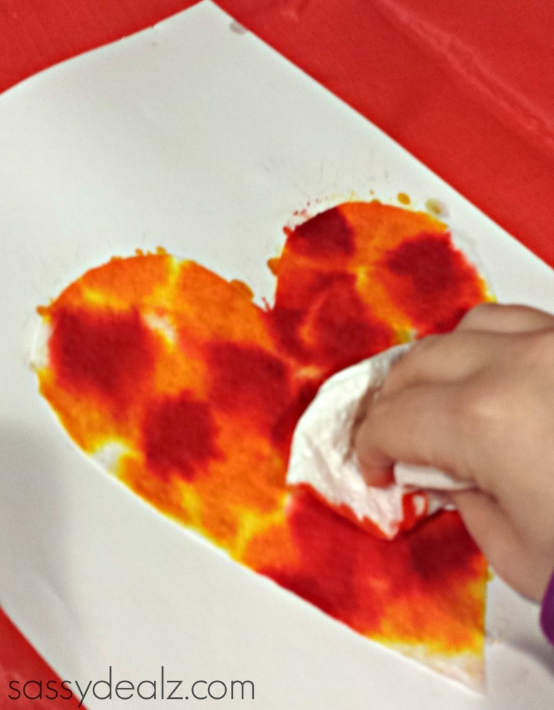 food coloring valentine