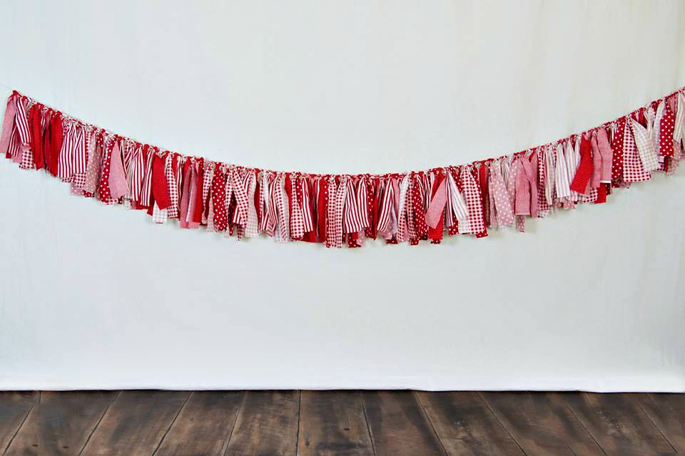 Cheap DIY Valentine Photography Backdrop Banner
