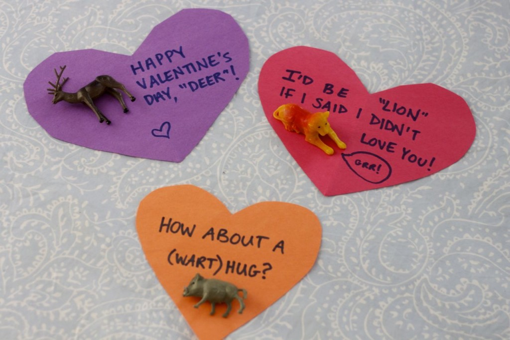 valentine plastic animals