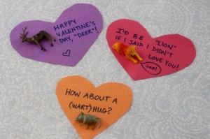 valentine plastic animals