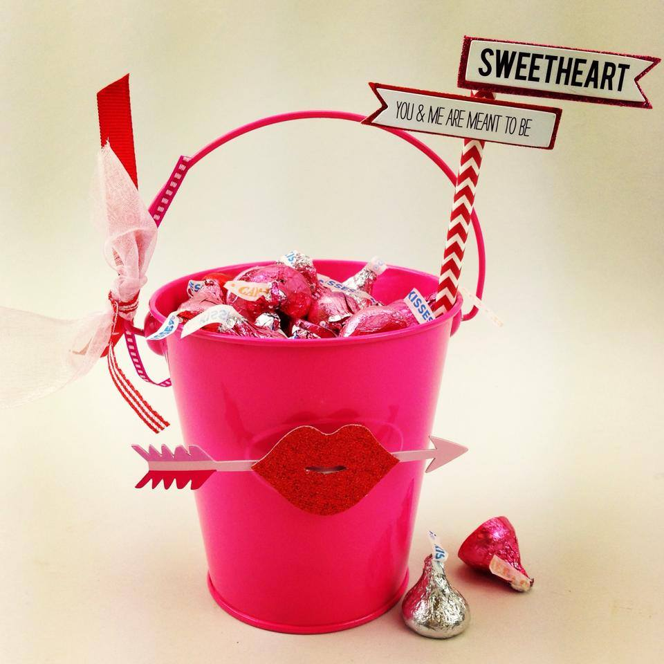 Diy Valentine S Day Bucket Gift Idea Crafty Morning