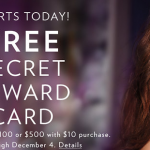 Victoria's Secret: Get a Secret Reward Card When You Spend $10! (Valid 10/29-12/4)