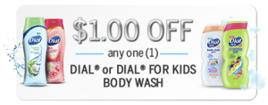 Dial Foaming Hand Soap and Kids Body Wash Printable Coupons