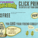 Yucatan Guacamole – Buy One Get One FREE Printable Coupon + Giveaway