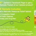 Free Sample of Zarbee's Natural Seasonal Relief