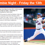 FREE NY Mets vs. Miami Marlins Baseball Ticket for Zombie Night on Sept.13th (HURRY!)