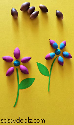 Acorn Flower Craft For Kids Spring Idea Crafty Morning