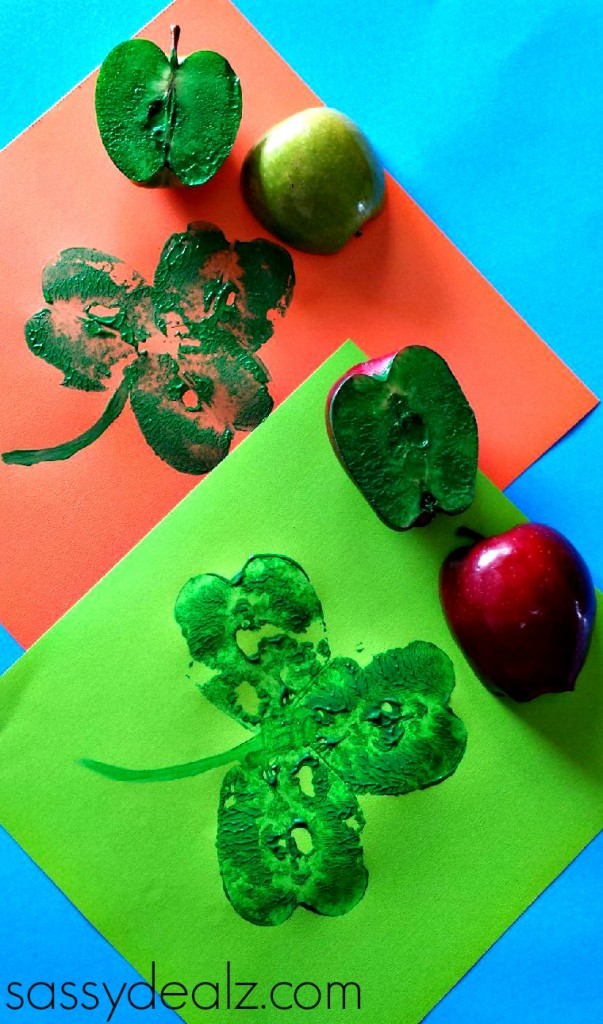 apple-stamping-shamrocks