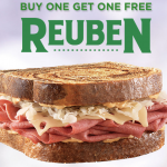 Arbys Coupon: Buy One Reuben, Get One Free! (3/15-3/17)