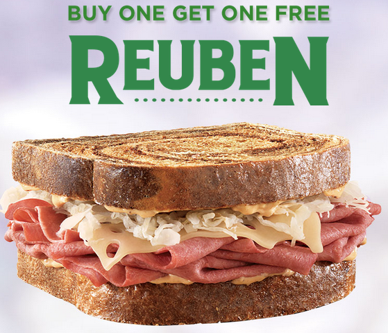 photograph relating to Arbys Coupon Printable referred to as Arbys Coupon: Acquire Just one Reuben, Receive A single Free of charge! (3/15-3/17