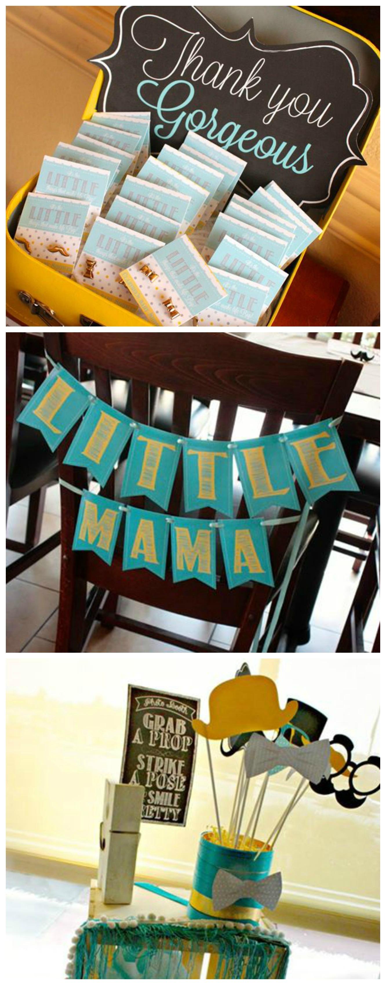 Creative baby boy shower ideas crafty morning - Creative boy baby shower themes ...
