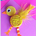 Plastic Bottle Cap Chick Craft for Kids