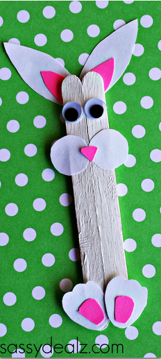 Easter Popsicle Stick Crafts that doubles as a puppet