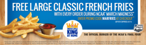 Burger King Delivers: Get FREE Large Fries w/ Promo Code