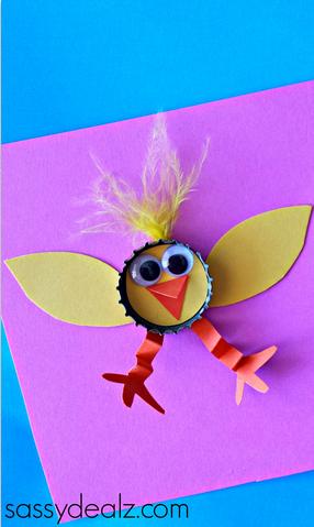 chick-bottle-cap-kids-craft