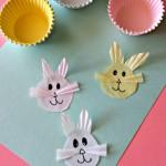 Cupcake Liner Bunny Craft for Kids