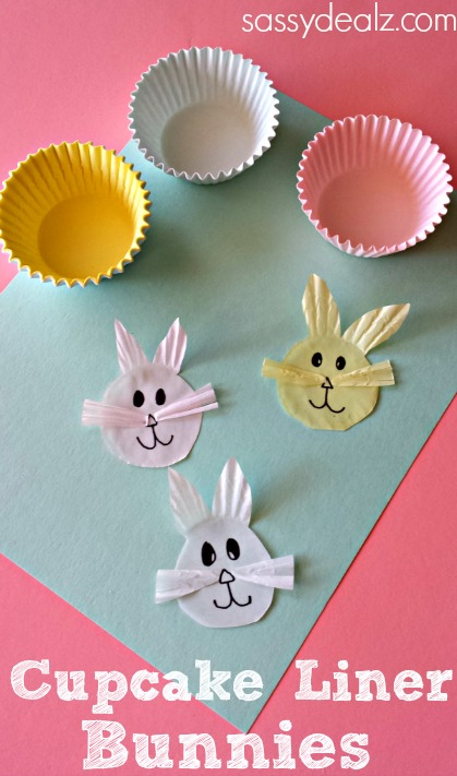 cupcake liner bunny craft for easter