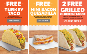 Del Taco Coupons – Free items! (Exp 3/11)