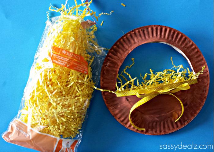 easter-basket-paper-plate & 3D Paper Plate Easter Basket Craft for Kids - Crafty Morning