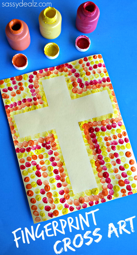 easter-cross-fingerprint-craft