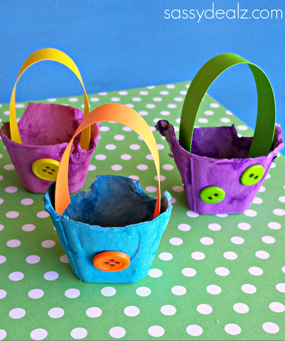 Egg Carton Easter Basket Crafts